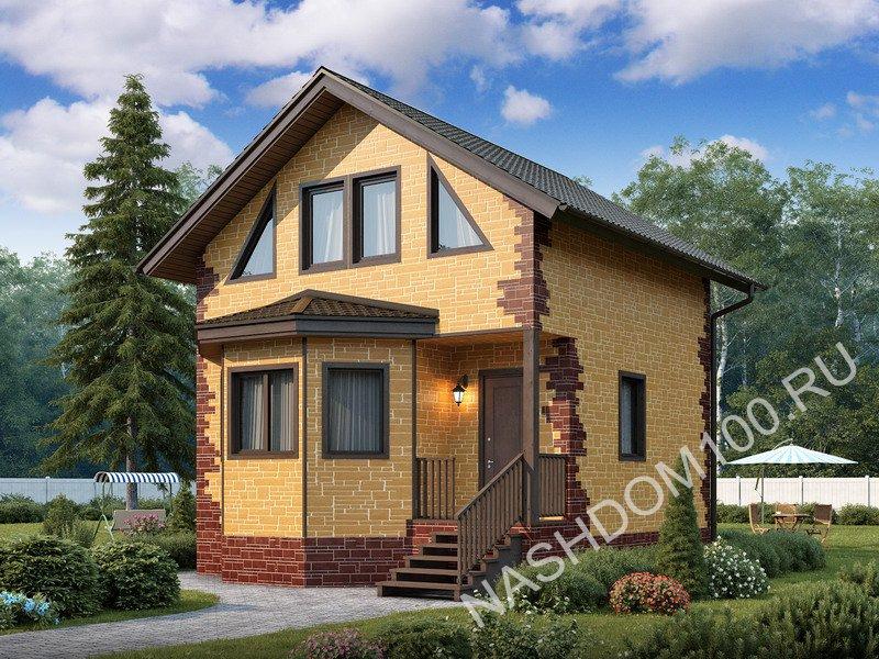 Проект каркасного дома Д-1