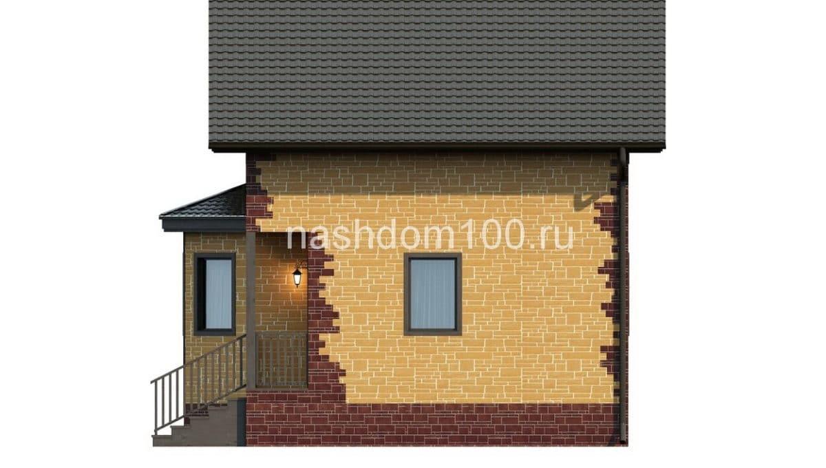 Фасад 4 каркасного дома Д-1