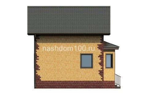 Фасад 2 каркасного дома Д-1