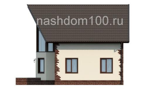 Фасад 3 каркасного дома Д-12