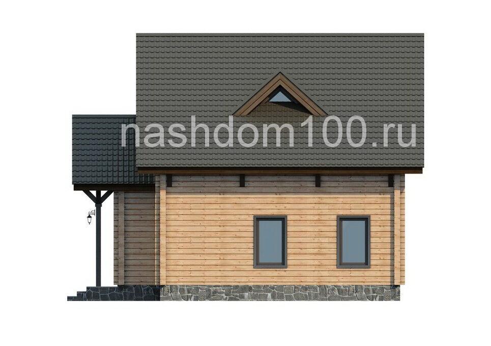 Фасад 4  каркасного дома Д-13