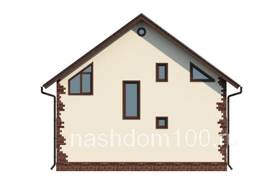 Фасад 4 каркасного дома Д-12