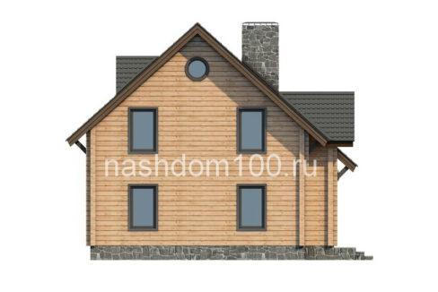 Фасад 3  каркасного дома Д-13