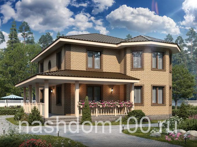 Проект каркасного дома Д-9