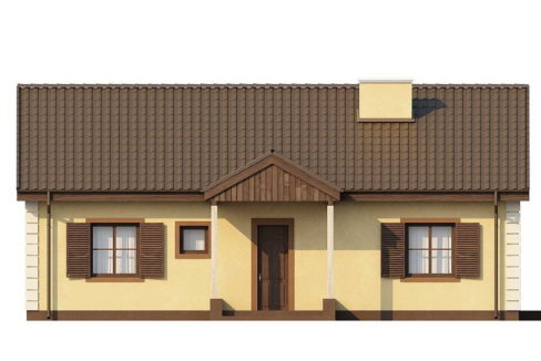 Фасад 1 каркасного дома Z-8