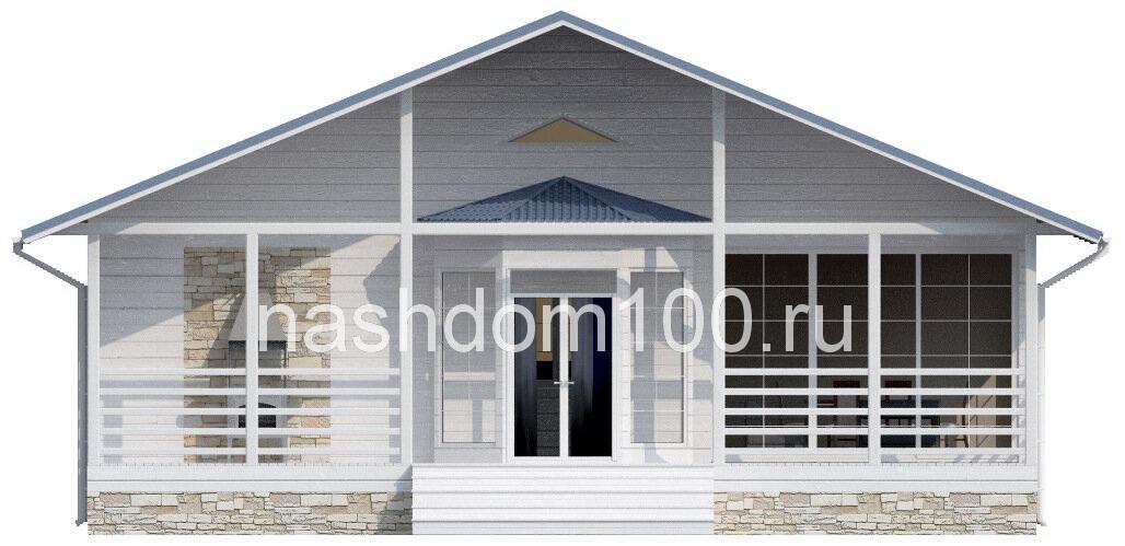 Фасад 1  каркасного дома Д-24