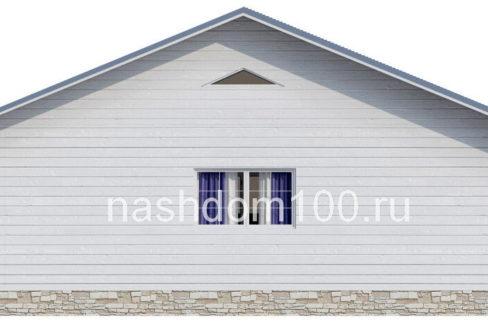 Фасад 3  каркасного дома Д-24