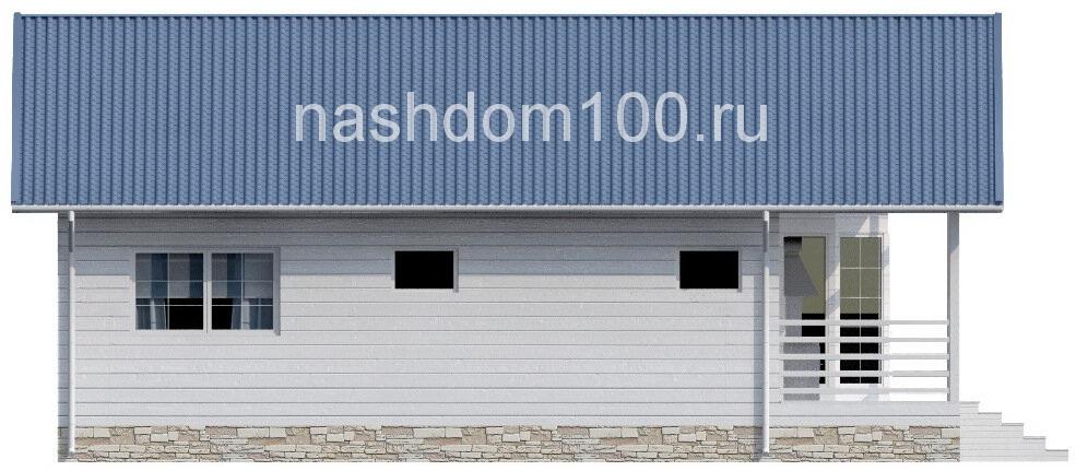Фасад 4  каркасного дома Д-24