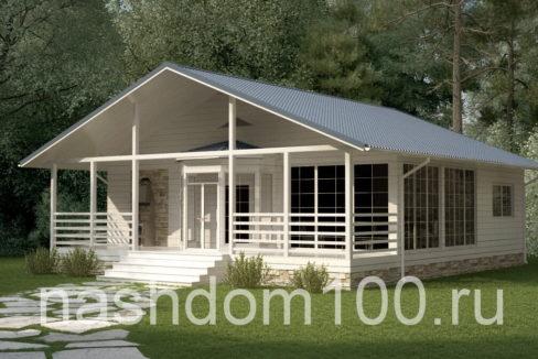 Проект каркасного дома Д-24