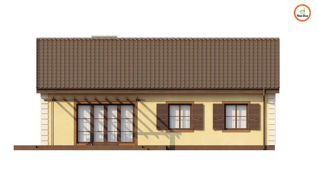 Фасад 2 каркасного дома Z-8