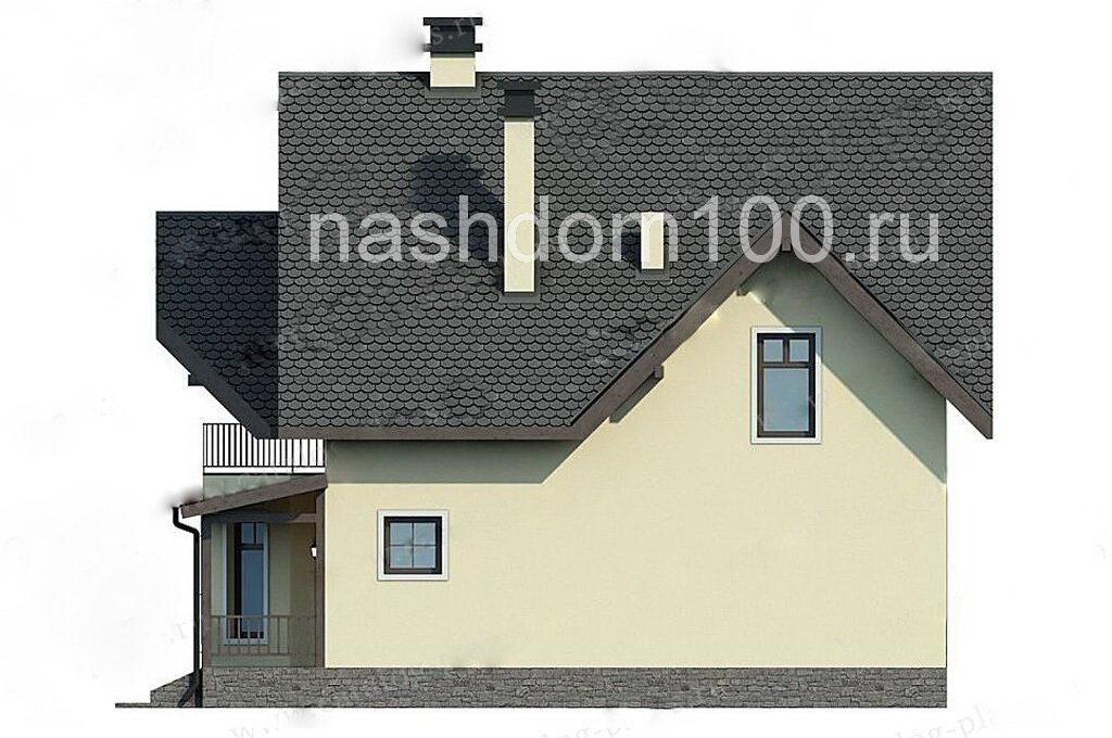 Фасад 3 каркасного дома Д-20
