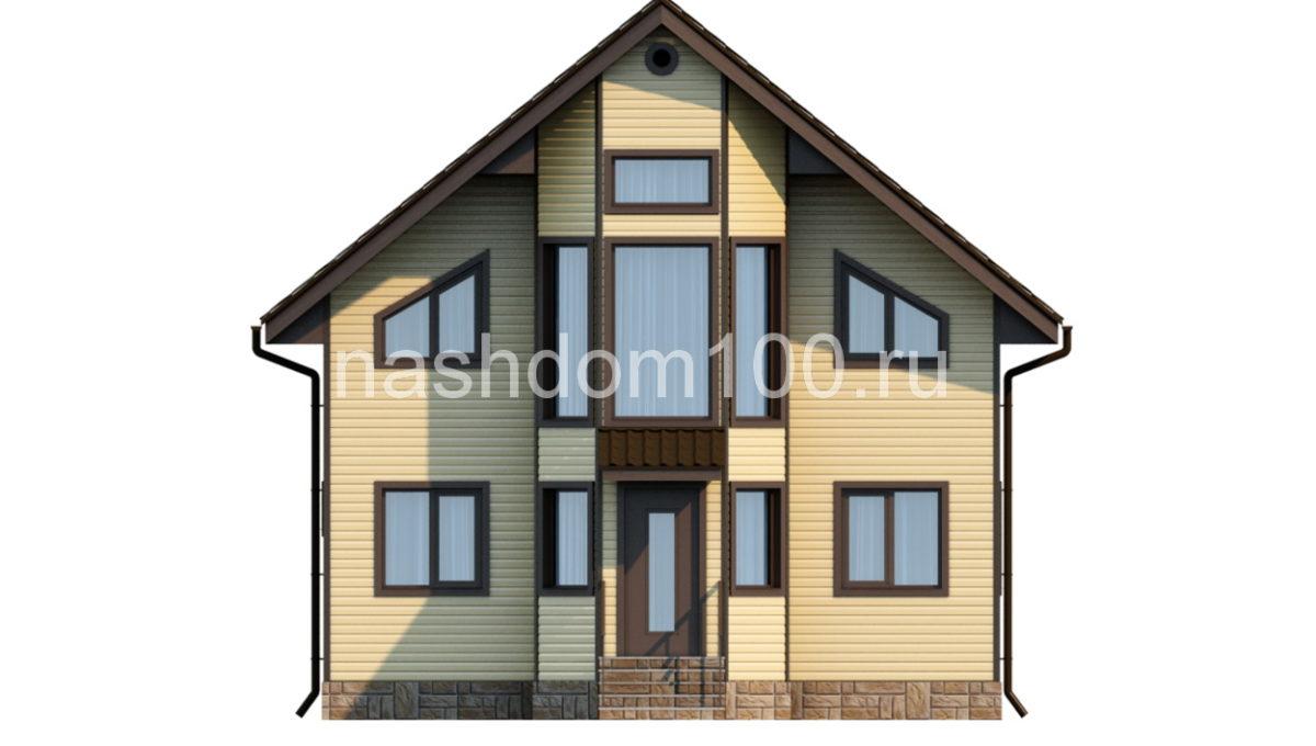 Фасад 1 каркасного дома Д-11
