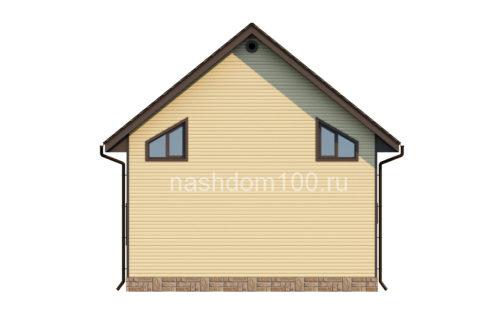 Фасад 4 каркасного дома Д-11