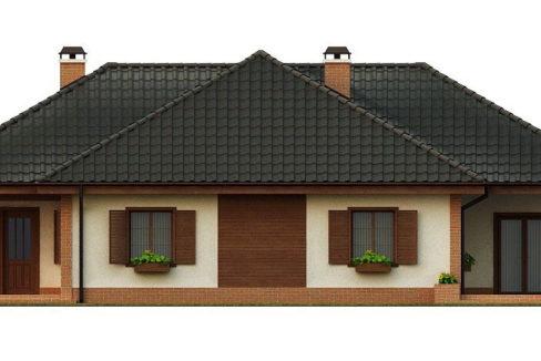 Фасад 4 каркасного дома Z-17