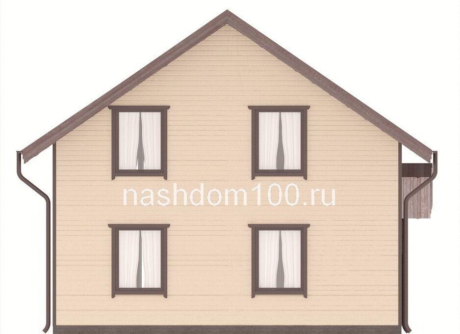 Фасад 3 каркасного дома Д-27