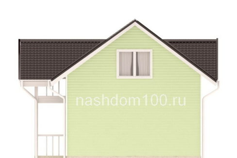 Фасад 4 каркасного дома Д-28