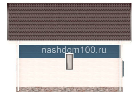Фасад 3 каркасного дома Д-26