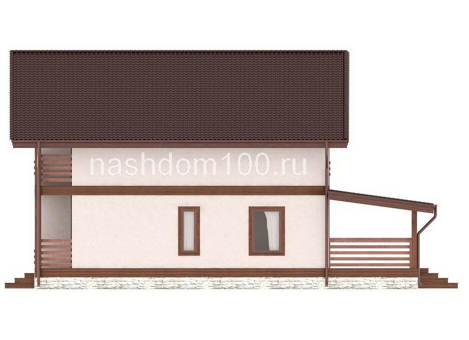 Фасад 4 каркасного дома Д-33