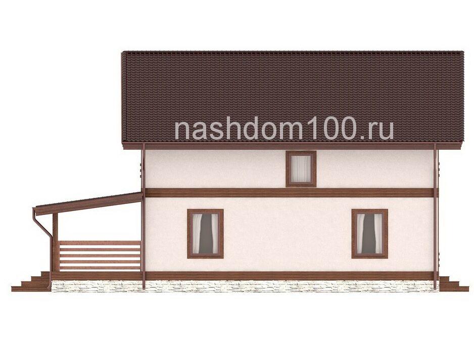 Фасад 3 каркасного дома Д-33