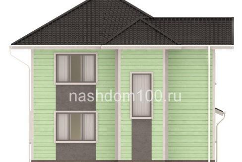 Фасад 4 каркасного дома Д-32