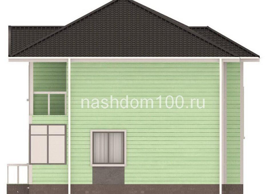 Фасад 3 каркасного дома Д-32