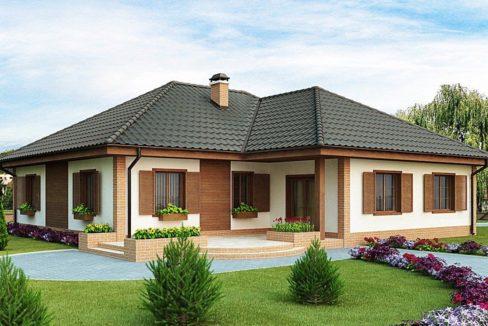 Проект каркасного дома Z-17