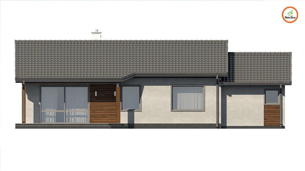 Фасад 2 каркасного дома Z-7