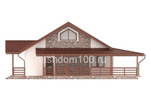 Фасад 1 каркасного дома Д-31
