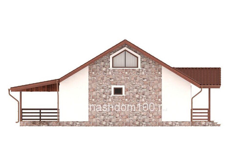 Фасад 4 каркасного дома Д-31