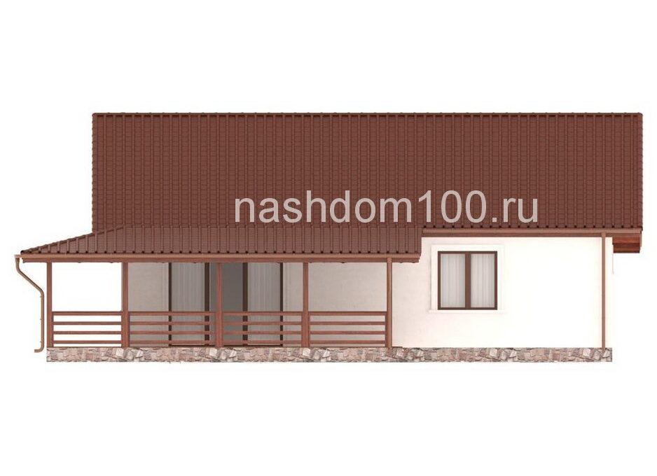 Фасад 3 каркасного дома Д-31