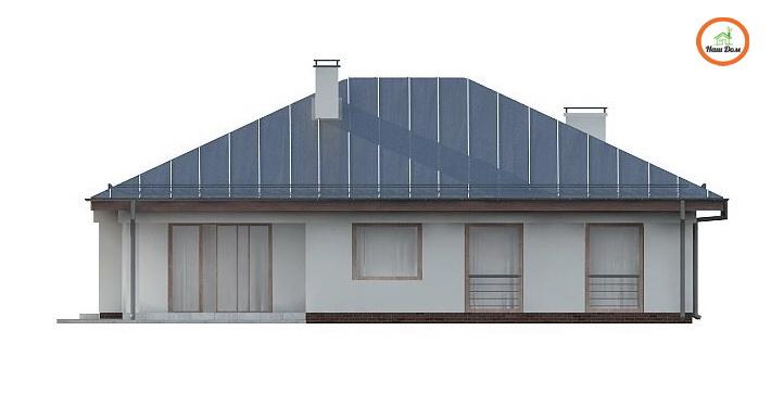 Фасад 4 каркасного дома Z-207