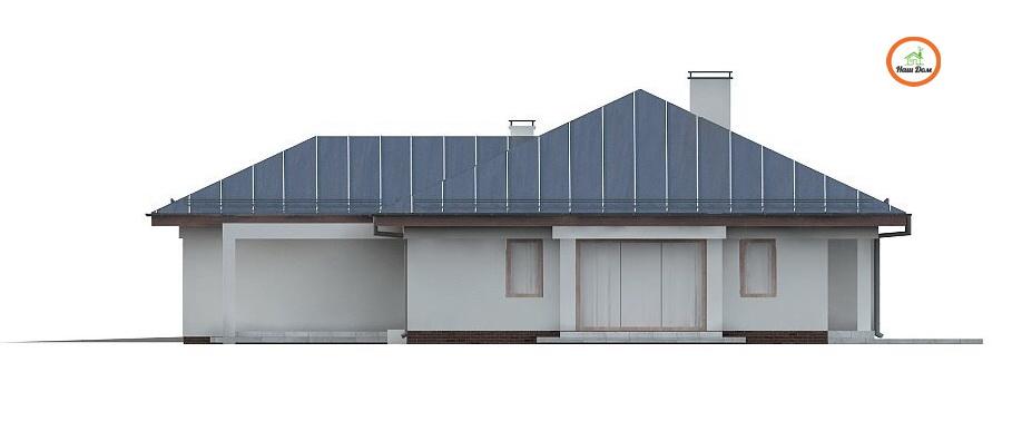 Фасад 3 каркасного дома Z-207