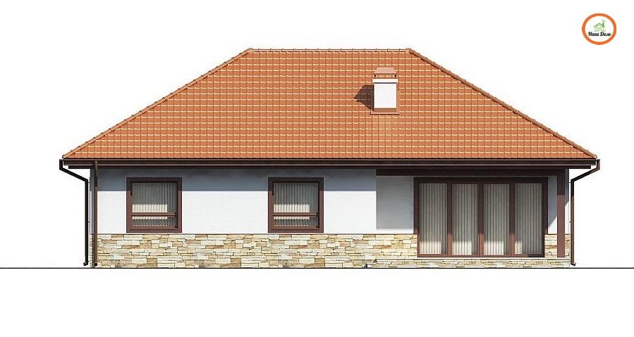 Фасад 3 каркасного дома Z-23