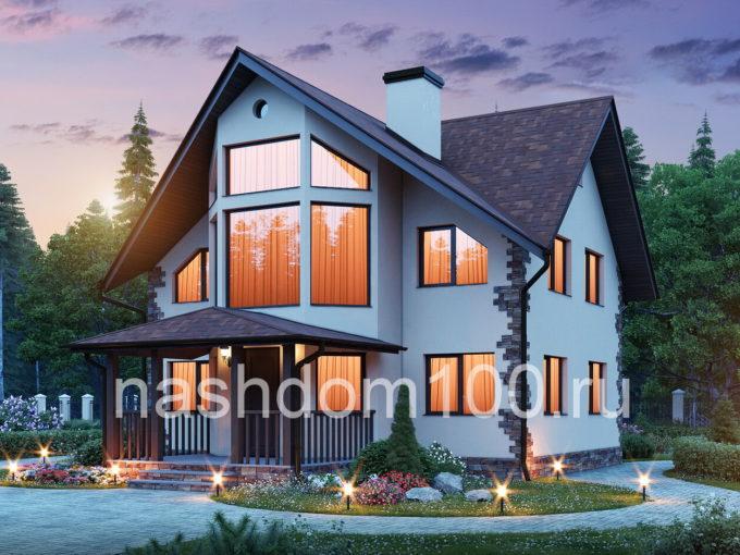 Проект каркасного дома Д-5