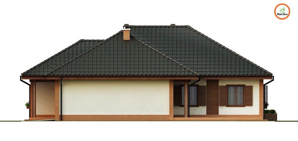 Фасад 3 каркасного дома Z-17