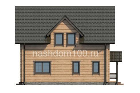 Фасад 3 каркасного дома Д-18