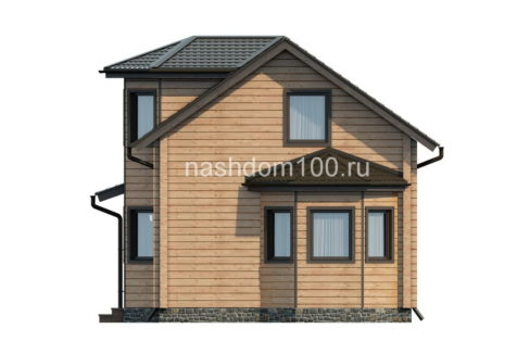 Фасад 2 каркасного дома Д-15