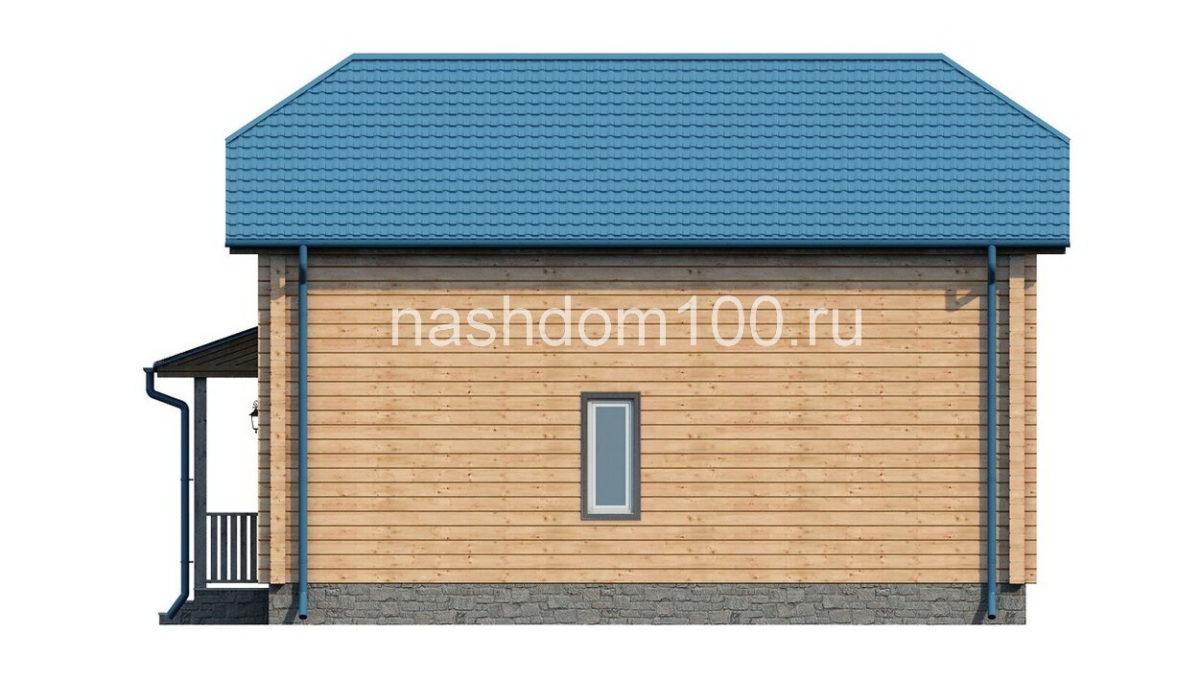 Фасад 3 каркасного дома Д-2