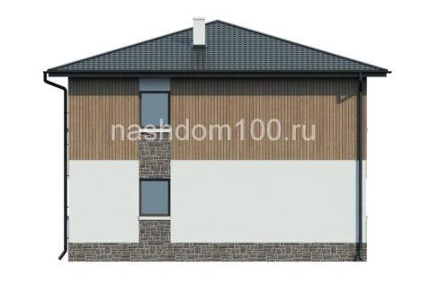 Фасад 3 каркасного дома Д-17