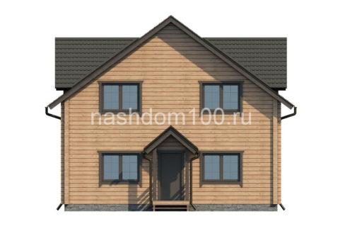 Фасад 1 каркасного дома Д-18