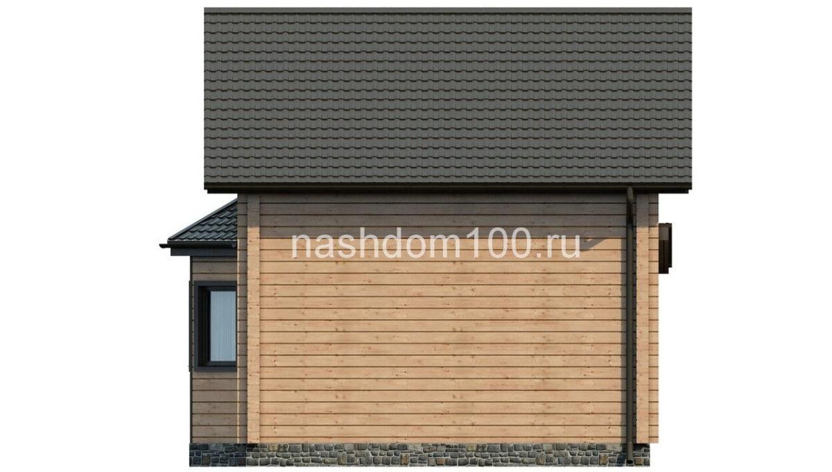 Фасад 4 каркасного дома Д-15