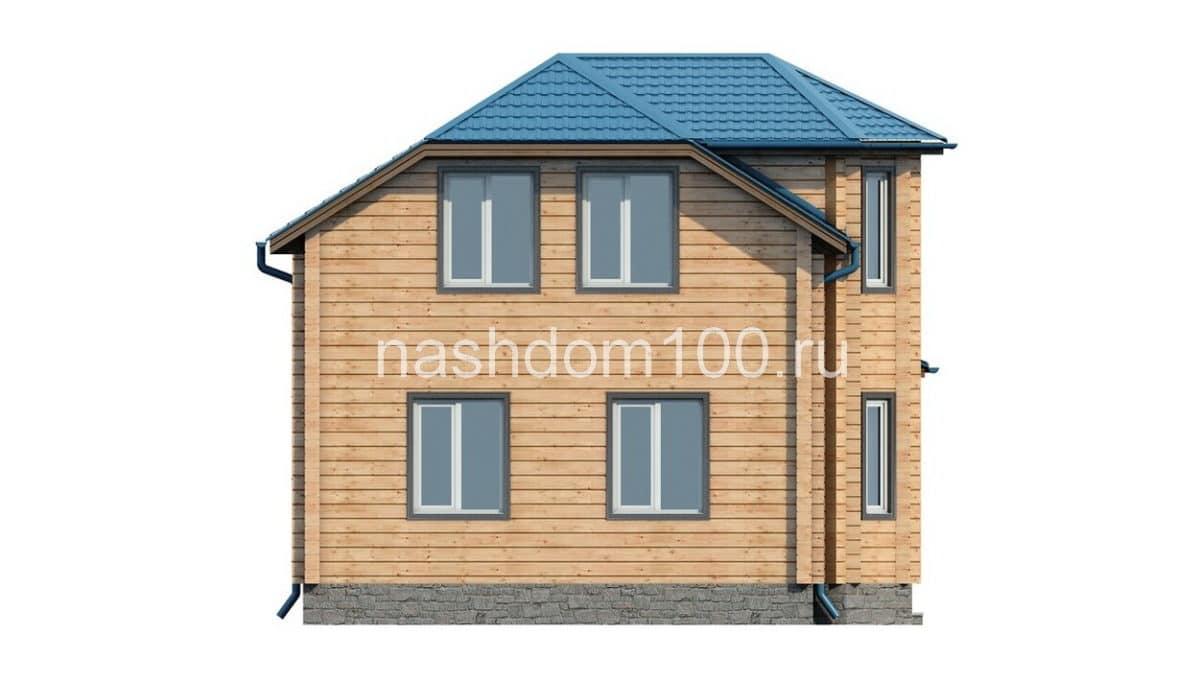 Фасад 4 каркасного дома Д-2