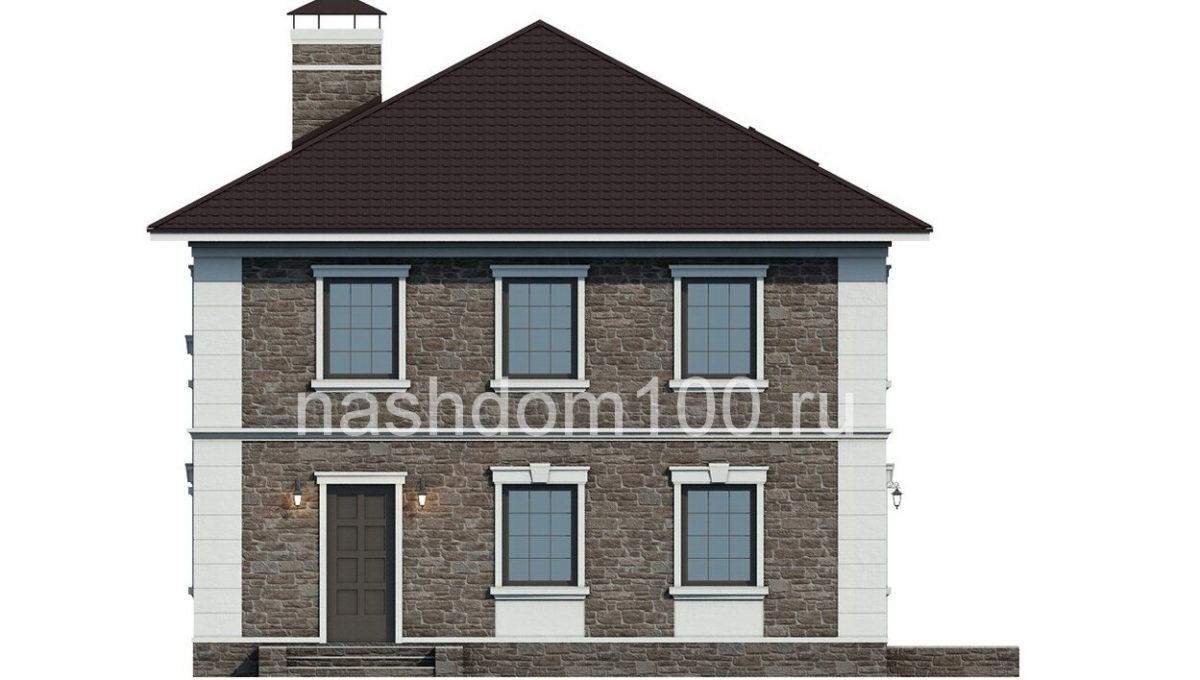 Фасад 4 каркасного дома Д-10