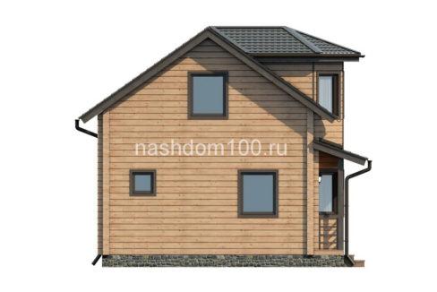 Фасад 3 каркасного дома Д-15