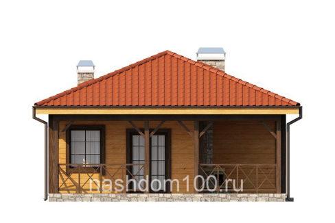 Фасад 1 каркасного дома Д-6