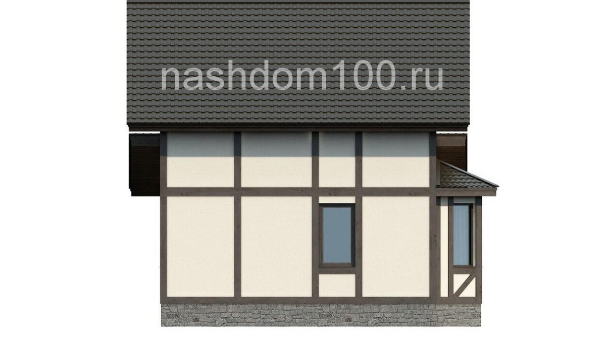Фасад 1 каркасного дома Д-14