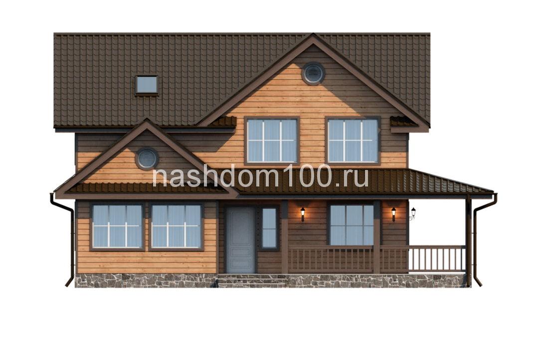 Фасад 1 каркасного дома Д-8