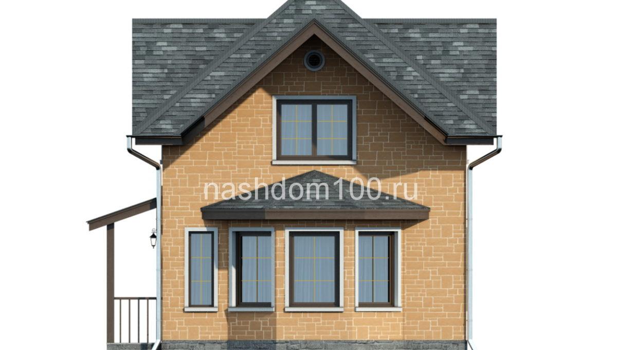 Фасад 2 каркасного дома Д-3