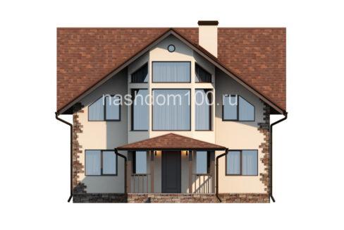 Фасад 1 каркасного дома Д-5