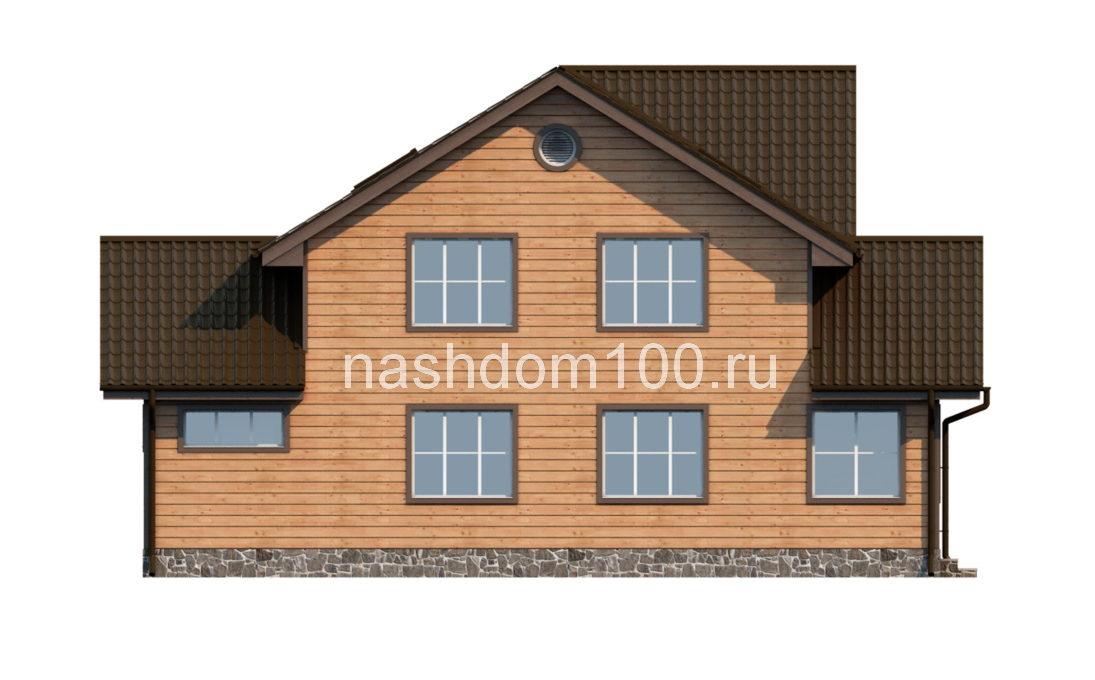 Фасад 4 каркасного дома Д-8